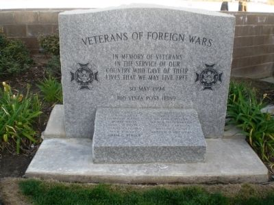 Rio Vista Veterans of Foreign Wars Marker image. Click for full size.