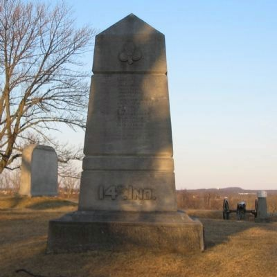 14th Indiana Infantry Monument image. Click for full size.