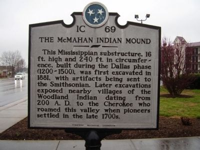 The McMahan Indian Mound Marker image. Click for full size.