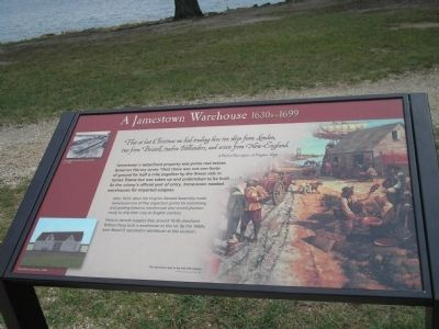 A Jamestown Warehouse Marker image. Click for full size.