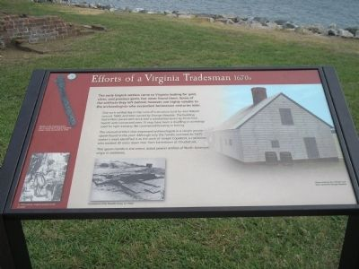 Efforts of a Virginia Tradesman Marker image. Click for full size.