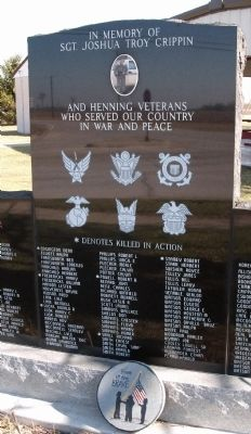 Center Section - - Henning (Illinois) War Memorial Marker image. Click for full size.