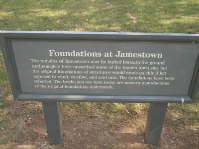 Foundations at Jamestown Marker image. Click for full size.