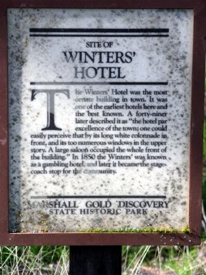 Winters' Hotel Marker image. Click for full size.