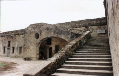 Castillo De San Marcos stairs to the parapet image. Click for full size.