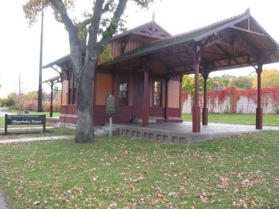 Minnehaha Depot and Marker image. Click for full size.