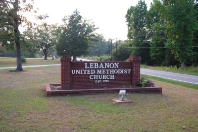 Lebanon United Methodist Church Sign image. Click for full size.