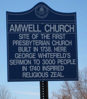 Amwell Church Marker image. Click for full size.