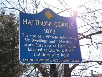 Mattisons Corner Marker image. Click for full size.