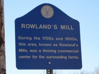 Rowland's Mill Marker image. Click for full size.