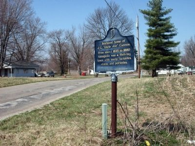 "Looking North - - Boyhood home of J. G. ""Uncle Joe"" Cannon. Marker image. Click for full size."