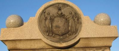 State Seal at Top of Monument image. Click for full size.