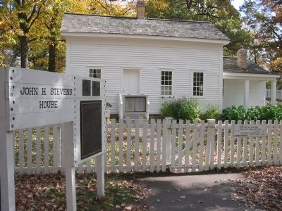John Harrington Stevens House and Marker image. Click for full size.