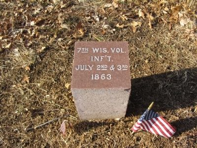 7th Wisconsin Volunteer Infantry Marker image. Click for full size.