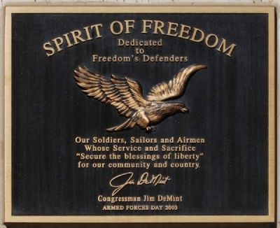 Spirit of Freedom Marker image. Click for full size.