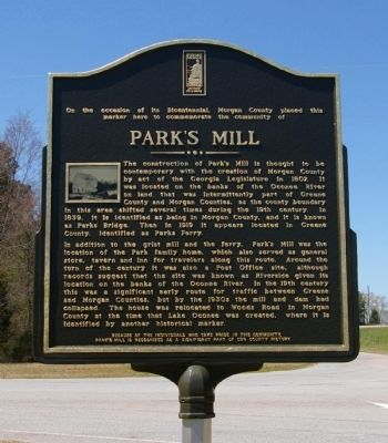 Park's Mill Marker image. Click for full size.