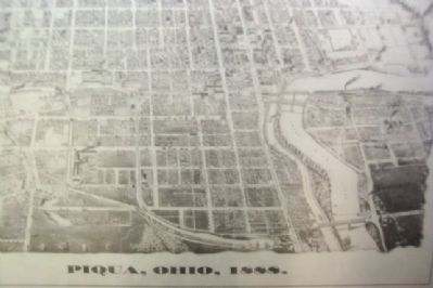 1888 Map of Piqua, Ohio on Introductory Marker image. Click for full size.