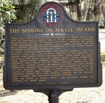 The Spanish on Jekyll Island Marker image. Click for full size.