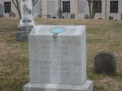 Christ Church Gravestone of Morgan Morgan and wife image. Click for full size.