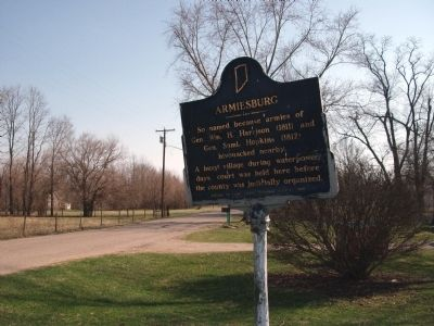 South View - - Armiesburg Marker image. Click for full size.