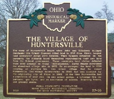 The Village of Huntersville Marker image. Click for full size.