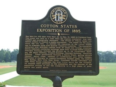 Cotton States Exposition of 1895 Marker image. Click for full size.