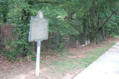 Bate's Division Marker on Piedmont Road from direction of Westminister Drive image. Click for full size.
