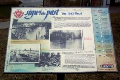The 1913 Flood Marker image. Click for full size.