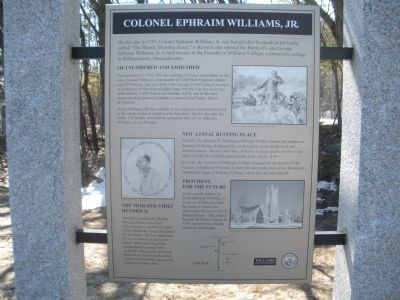 Colonel Ephraim Williams, Jr. Marker image. Click for full size.