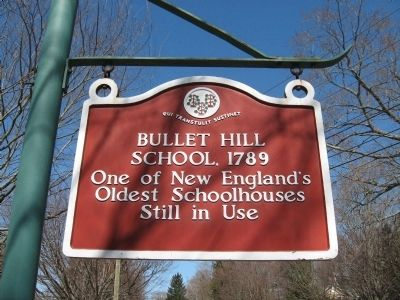 Bullet Hill School Marker image. Click for full size.