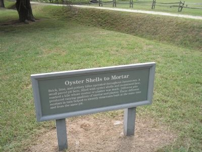 Oyster Shells to Mortar Marker image. Click for full size.