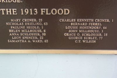 1913 Flood Victims and Their Ages image. Click for full size.