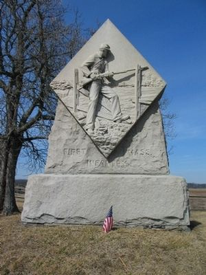 First Massachusetts Infantry Monument image. Click for full size.