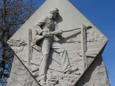 Relief on Front of Monument image. Click for full size.