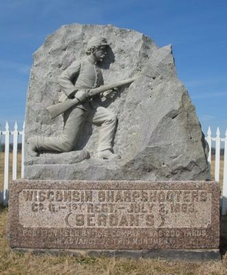 Wisconsin Sharpshooters Monument image. Click for full size.