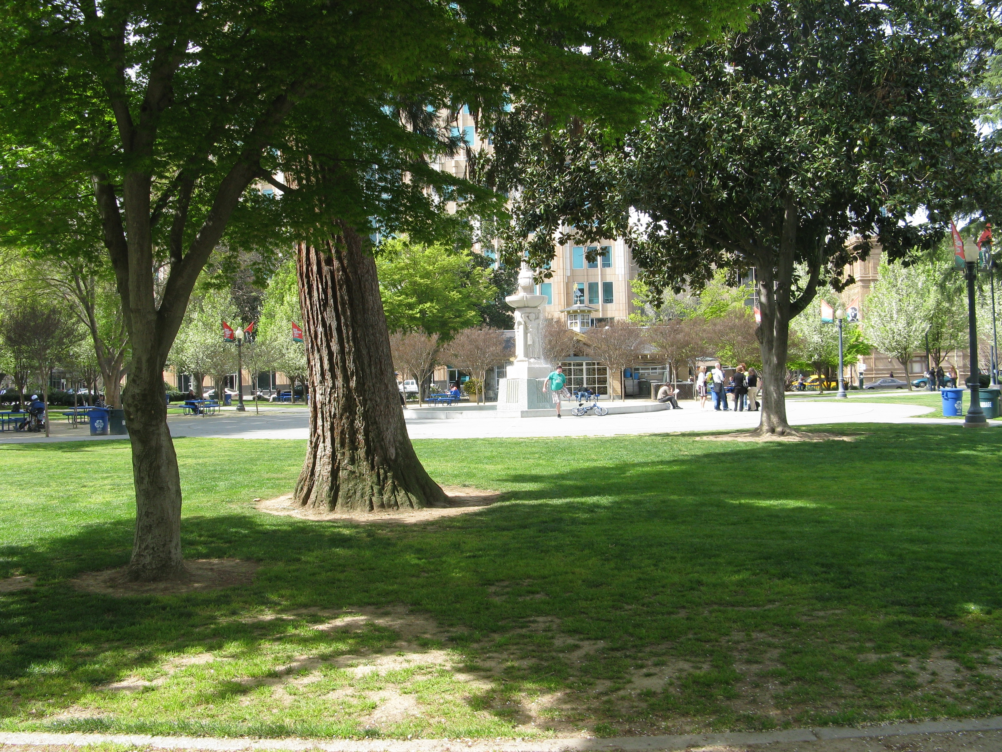 Current Day View of Cesar Chavez Park (Formerly Old City Plaza)