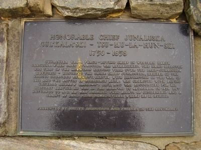 Honorable Chief Junaluska Marker image. Click for full size.