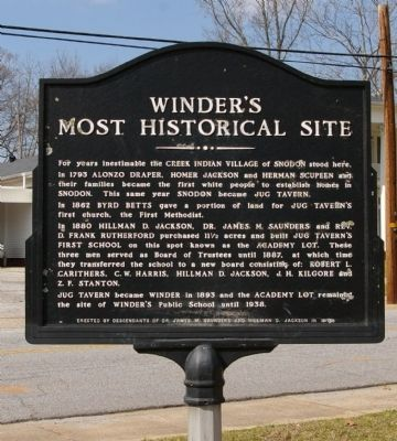 Winder's Most Historical Site Marker image. Click for full size.