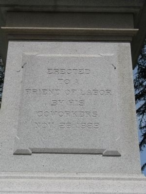 A. J. Stevens Monument Inscription - Front of Monument image. Click for full size.