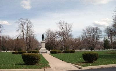 East View - - Danville (Illinois) National Cemetery Marker image. Click for full size.