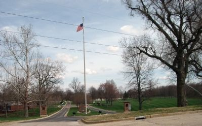 Entrance to Danville National Cemetery image. Click for full size.