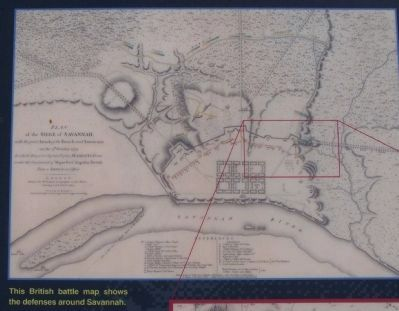 Marker's upper picture ; British Plan of the Seige of Savannah image. Click for full size.