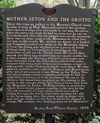 Mother Seton and the Grotto image. Click for full size.