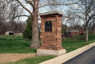 "Left Entry Pillar to ""Danville (Illinois) National Cemetery"" image. Click for full size."