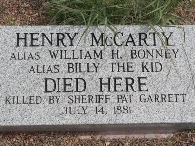 The area where Billy the Kid was killed. image. Click for full size.