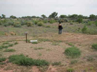 The area where the building stood overlooking the Pecos river. image. Click for full size.