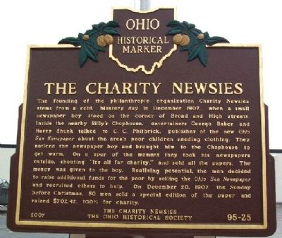 The Charity Newsies Marker image. Click for full size.