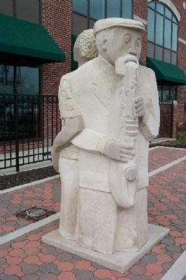 Jazz Statue near Marker image. Click for full size.