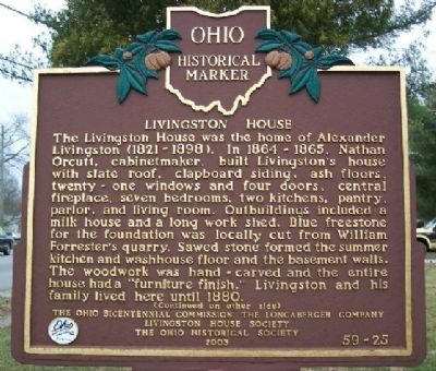 Livingston House Marker (Side A) image. Click for full size.