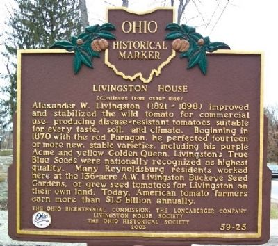 Livingston House Marker (Side B) image. Click for full size.